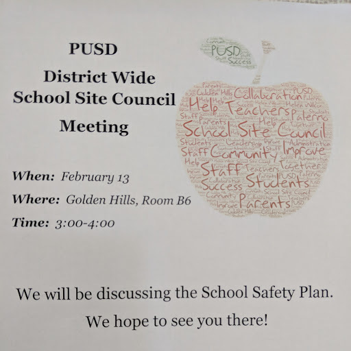 PUSD District Wide School Site Council Meeting