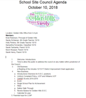 School Site Council Agenda